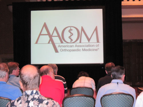 Dr. Fred Arnold at AAOM Conference