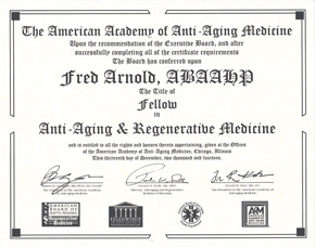 Fellowship in Anti-Aging & Regerative Medicine Certification