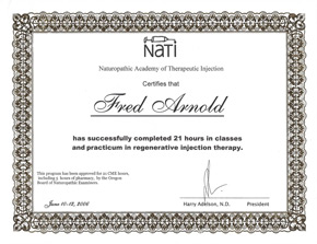 NATI Prolotherapy Certification