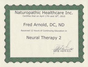 Neural Therapy Certificate