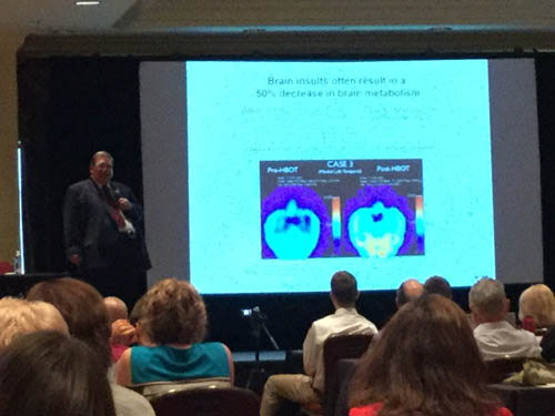 Dr. Fred Arnold attends a conference by the International Hyperbaric Medical Foundation
