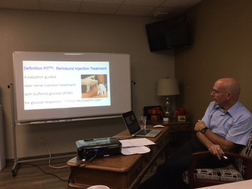 Dr. Fred Arnold attends the Lyftogt Perineural Injection Treatment Master Class